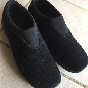 Covington Black suede slip on loafer shoes